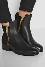 CHIC COMFY  leather/suede BLACK two sides zip 3.1 Phillip Lim Alexa Booties