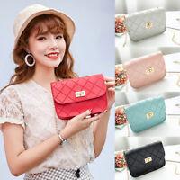 Women's PU Leather Small Shoulder Bag Envelope Crossbody Messenger Handbag Purse