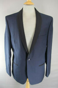 BRAND NEW DARK BLUE BLACK LAPEL DINNER JACKET TUXEDO: 40 INCH CHEST (SLIM FIT)