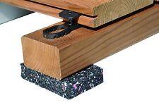 120 St. K&R Terraflex Befestigungs-Clip mit V2A-Schraube C1, für Holz-UK, 6559