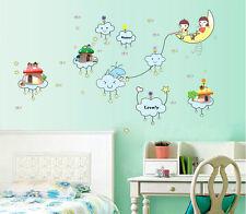 Baby Dream Moon Children Fishing Art Wall Stickers Nursery Decal Home Decor