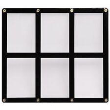6 TRADING CARD BLACK FRAME SCREWDOWN ULTRA CLEAR HOLDER by ULTRA PRO