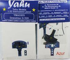 Modèles yahu yma3205 1 / 32ede PE DEWOITINE D. 520 instrument panel azur