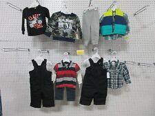 10 BOYS 12M TODDLER WINTER SKI SWEAT PANTS SHIRTS OUTFIT WONDER KIDS BULK LOT