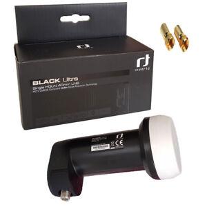 Inverto Single LNB BLACK ULTRA UNIVERSAL DIGITAL SKY FULL HDTV Ultra 4K SAT LNC