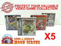 5x NINTENDO GAME BOY ADVANCE GAME BOX - PROTECTIVE BOX PROTECTOR SLEEVE CASE
