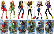 "NEW 6 DC Super Hero Girls Mattel 12"" Dolls Heroes Collection Set"