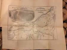 Rare 1854 Steamboat Company's Handbook For Travelers With Map; Saratoga New York