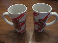 Christmas Gingerbread Man Coffee, Latte , Expresso Tea 16 oz cup / mug -Set of 2