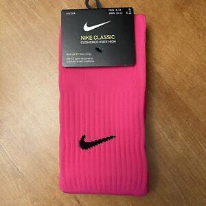 Nike Soccer Socks Classic Cushioned Knee High Men's 8-12 WMN 10-13 (1 Pair)
