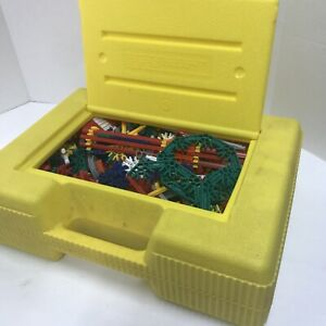 Knex huge lot Classic/Mini with yellow box, wheels, rods, connectors, clips 5lbs