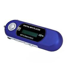 iRULU 8GB LCD USB 2.0 WMA MP3 Player with FM Radio Voice Recorder Blue
