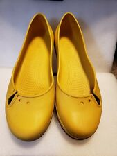Crocs Womens Ballerina Style, Flats, Slip On Size 11 Yellow Blue