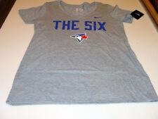 Toronto Blue Jays MLB Baseball THE SIX 6 Tee T Shirt Cotton XL Ladies Women