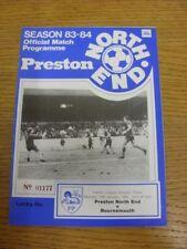 14/01/1984 Preston North End V Bournemouth (equipo cambios). si el artículo ha cualquier