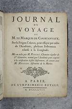 COURTANVAUX. JOURNAL DU VOYAGE SUR LA FRÉGATE L'AURORE. 1768.