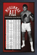 MUHAMMAD ALI PRO BOXING RECORD 13x19 FRAMED GELCOAT POSTER GREATEST WORLD CHAMP!