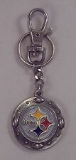 Pittsburgh Steelers NFL Logo Heavyweight Metal Keychain Keyring w Lobster Claw