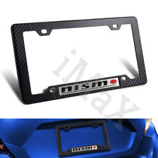 1PCS NISMO Car Trunk Emblem + Carbon Look ABS License Plate Tag Frame for Nissan