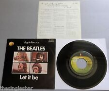 "The Beatles - Let It Be Japanese 1970 7"" Withdrawn P/S + Lyric Insert"