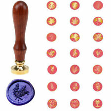 Wooden Plant Flower Sealing Wax Seal Stamp Party Invitation Card Wedding Decor