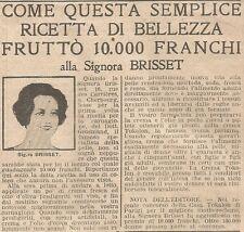 W1674 Crema TOKALON - Sig.ra Brisset - Pubblicità del 1926 - Old advertising
