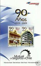 CHILE, 90th ANNIV. MUTUAL DE SEGUROS DE CHILE 2009, BROCHURE