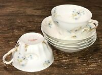 THEODORE HAVILAND LIMOGES FRANCE LOT OF 4 FRUIT SAUCE BOWLS  2 CUPS BLUE FLORAL