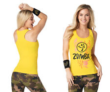 Zumba  Z Army Racerback Tank Top - Sunrays Yellow ~ All Sizes! Free Shipping!