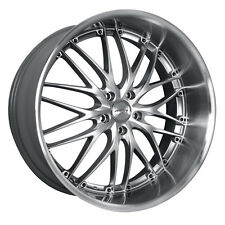 MRR GT1 19x8.5 5x120 Hyper Silver Wheels Rims (Set of 4)
