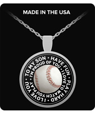 Baseball Necklace for Son, Baseball Necklace for Boys, Baseball Gift, Baseball N
