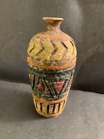 """Vintage Italian Bitossi Raymor Lava Stone Vase Pottery MADE IN ITALY 8"""" Tall"""