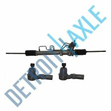 3 pc Set: Power Steering Rack and Pinion Assembly + 2 Outer Tie Rod Ends