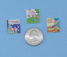 Adorable Set of 3 Dollhouse Miniature Faux Children's Books #HBS1