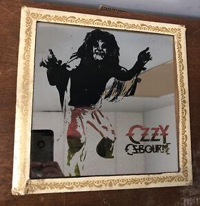 RARE STILL IN CARDBOARD HOLDER Vintage Carnival Prize Mirror Glass Ozzy Osbourne