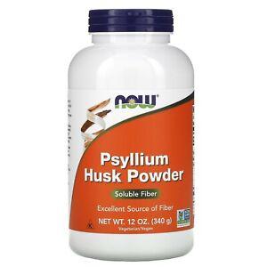 NOW Foods Psyllium Husk Powder 12 oz./340 g - SOLUBLE FIBER - Kosher, Vegan