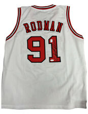 More details for chicago bulls basketball shirt signed by dennis rodman 100% authentic with coa