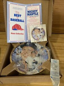 Mickey Mantle 1995 The Hamilton Collection Plate #44934 NY Yankees