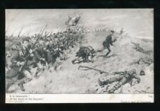 France WWI 1914 Soldiers Bayonet Charge Edition Patriotique #1744 PPC
