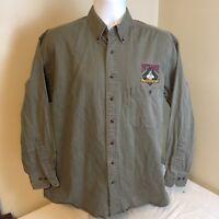 Gear For Sports Mens Shirt Pete Rose Ballpark Cafe Oxford Long Sleeve Medium FS!
