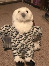 "Mahnussen Home white and black Snow owl childrens stuffed animal plush 17"" Toy"