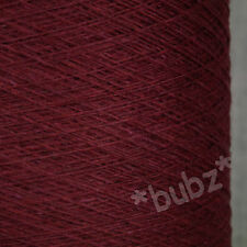 SUPER SOFT SOCK YARN CASHMERE VISCOSE MERINO 1/15 250g CONE 5 BALLS OXBLOOD LACE