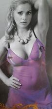 Purple Heart Mesh Chemise & G-String Set  Adjustable  XL-1X  Plus Size Lingerie