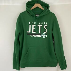 NY JETS New York NFL Green Pullover Hoodie Hooded Sweatshirt Men's Large