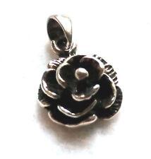 Rosen Anhänger 925 Sterling Silber Blume Kettenanhänger Neu Rose pendant silver