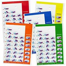 Color Coded Monthly 31 Day Medication Blister Cards Cold Seal 5 pack MULTICOLOR