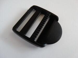 1 x 40mm Ladder Lock Buckle Black plastic Webbing Strap Bag Length Adjustment