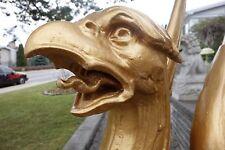 19C American Gilded Age Golden Griffin Giant Garden Statue