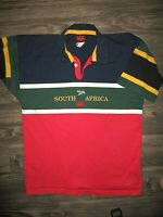 Canterbury Of New Zealand Rugby Polo shirt (Large) South Africa Logo