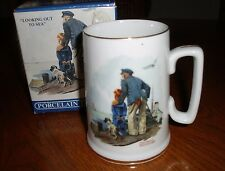 "Norman Rockwell Collector's Cup Mug ~ ""Looking Out To Sea"" ~ New In Box"